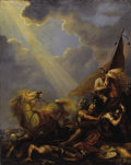 Fine Art - Painting, European:Antique  (Pre 1900), SIR PETER FRANCIS BOURGEOIS (British 1756-1811). Conversion of St. Paul, 1794. Oil on original unlined canvas. 49-1/2 x ...