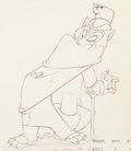 Animation Art:Production Drawing, Pinocchio Foulfellow Animation Drawi...
