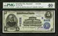 National Bank Notes:Maryland, Kitzmillerville, MD - $5 1902 Plain Back Fr. 600 The First NB Ch. # (E)8302. ...
