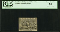 Milton 2E25FR.2 Second Issue Experimental. PCGS Choice About New 58