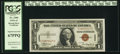 Small Size:World War II Emergency Notes, Fr. 2300 $1 1935A Hawaii Silver Certificate. PCGS Superb G...