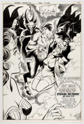 Original Comic Art:Splash Pages, José Delbo and Dave Hunt Wonder Woman #279 Splash Page 17Original Art (Dc, 1981)....