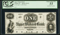 Obsoletes By State:Indiana, Wabash, IN- Upper Wabash Bank $1 Apr. 3, 1854 G2 Wolka 848-1 Proof. ...