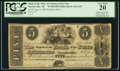 Obsoletes By State:Arkansas, Fayetteville, AR- Bank of the State of Arkansas, Branch at Fayetteville $5 Post Note Aug. 8, 1838 G152 Rothert 186-6 . ...