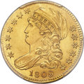 Early Half Eagles, 1809/8 $5 BD-1, High R.3, MS65 PCGS Secure....