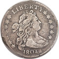 Early Dimes, 1804 10C 14 Stars Reverse, JR-2, R.5, Fine 15 PCGS....