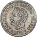 Coins of Hawaii , 1881 5C Hawaii Five Cents AU53 PCGS Secure. Medcalf-2CN-1, KM-2....