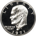 Proof Eisenhower Dollars, 1971-S $1 Silver, Doubled Die Reverse, FS-801, PR69 Cameo PCGS Secure....