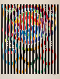 Fine Art - Work on Paper:Print, Yaacov Agam (b. 1928). Message of Peace, from OfficialArts Portfolio of the XXIVth Olympiad, Seoul, Korea, 1988.Se...