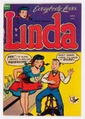 Golden Age (1938-1955):Humor, Linda #1 (Ajax/Farrell, 1954) Condition: GD/VG....