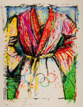 Fine Art - Work on Paper:Print, Jim Dine (b. 1935). Olympic Robe, from Official ArtsPortfolio of the XXIVth Olympiad, Seoul, Korea, 1988.Lithograp...
