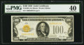 Small Size:Gold Certificates, Fr. 2405 $100 1928 Gold Certificate. PMG Extremely Fine 40.. ...