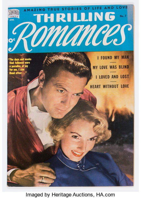 Thrilling Romances #7 (Standard, 1950) Condition: VF+....