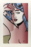 Fine Art - Work on Paper:Print, Roy Lichtenstein (1923-1997). Nude with Blue Hair, fromNudes, 1994. Relief in colors on Rives BFK paper. 51-3/16 x...