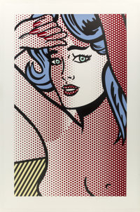 Roy Lichtenstein (1923-1997) Nude with Blue Hair, from Nudes, 1994 Relief in colors on Ri