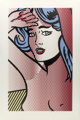 Roy Lichtenstein (1923-1997) Nude with Blue Hair, from Nudes, 1994 Relief in colors on Rives BFK paper 51-3/16 x
