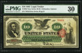 Large Size:Legal Tender Notes, Fr. 95b $10 1863 Legal Tender PMG Very Fine 30.. ...
