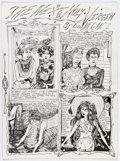 "Original Comic Art:Complete Story, Dame Darcy Meat Cake #1 Complete 4-Page Story ""The Next Holy Virgin"" Original Art (Fantagraphics, 1993).... (Total: 4 Original Art)"
