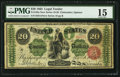 Large Size:Legal Tender Notes, Fr. 126a $20 1863 Legal Tender PMG Choice Fine 15.. ...