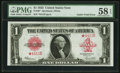 Error Notes:Large Size Errors, Fr. 40* $1 1923 Legal Tender PMG Choice About Uncirculated 58 EPQ.. ...