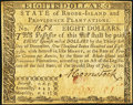 Colonial Notes:Rhode Island, Rhode Island July 2, 1780 $8 Very Fine.. ...