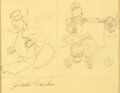 Original Comic Art:Sketches, Carl Barks - Donald Duck Gag Sketch Original Art (Walt Disney/Western Publishing, c. 1950s-60s)....