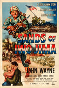 "Movie Posters:War, Sands of Iwo Jima (Republic, 1950). One Sheet (27"" X 41"") Style B....."