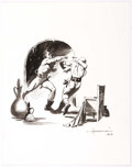 Original Comic Art:Illustrations, Mike Hoffman - Men Fighting Illustration Original Art (2012)....