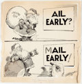 Original Comic Art:Illustrations, Joe Musial, Bruce Russell, and Others Various Christmas Greetings Original Art Group of 8 (ca. 1950s-2... (Total: 8 Original Art)