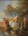 Paintings, Attributed to FRANZ ANTON MAULPERTSCH (Austrian 1724-1796). Triumph of the Arts: Modello for a Ceiling Decoration. Oil o...
