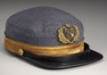 Military & Patriotic:Civil War, MOST RARE CIVIL WAR CONFEDERATE NAVAL OFFICER'S VISORED CAP....