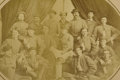 """Military & Patriotic:Civil War, CONFEDERATE ARMY 43RD BATTALION, """"MOSBY'S RANGERS"""" MAMMOTH PLATE PHOTOGRAPH 1863...."""