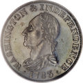 Colonials, 1783 1C Washington & Independence Cent, Draped Bust, Silver Restrike PR62 PCGS....