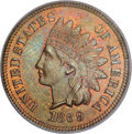 Indian Cents, 1869/69 1C MS66 Brown PCGS....