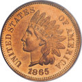 Proof Indian Cents, 1865 1C PR64 Red PCGS....