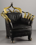 Texas, UNKNOWN MAKER . Longhorn Club Chair, early 1900s. 42-1/2 x35 x 29 inches (108.0 x 88.9 x 73.7 cm). Unsigned. ...