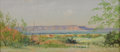 Texas:Early Texas Art - Impressionists, FRANK REAUGH (1860-1945). Untitled West Texas. Pastel on gritpaper. 3-1/2 x 7 inches (8.9 x 17.8 cm). Signed lower right. ...