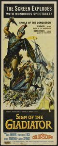 "Movie Posters:Adventure, Sign of the Gladiator (American International, 1959). Insert (14"" X36""). Adventure. ..."