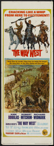 "Movie Posters:Western, The Way West (United Artists, 1967). Insert (14"" X 36""). Western...."