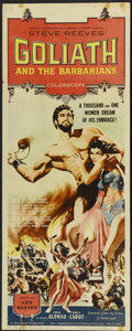 "Movie Posters:Adventure, Goliath and the Barbarians (American International, 1959). Insert(14"" X 36""). Adventure. ..."