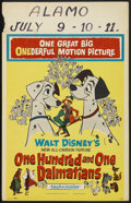 "Movie Posters:Animated, 101 Dalmatians (Buena Vista, 1961). Window Card (14"" X 22"").Animated. ..."