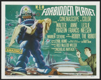 """Forbidden Planet (MGM, 1956). Title Lobby Card (11"""" X 14""""). Science Fiction"""