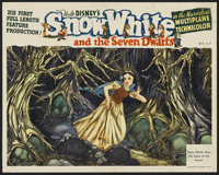 "Snow White and the Seven Dwarfs (RKO, 1937). Lobby Card (11"" X 14""). Animated"