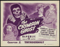 """Movie Posters:Serial, The Crimson Ghost (Republic, 1946). Title Lobby Card (11"""" X 14"""") Chapter 2 -- """"Thunderbolt."""" Serial. ..."""