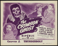 """The Crimson Ghost (Republic, 1946). Title Lobby Card (11"""" X 14"""") Chapter 2 -- """"Thunderbolt."""" Serial..."""