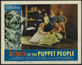 "Movie Posters:Science Fiction, Attack of the Puppet People (American International, 1958).Autographed Lobby Card (11"" X 14""). Science Fiction. ..."