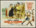 "Movie Posters:Action, Duel of the Titans (Paramount, 1963). Autographed Lobby Card (11"" X14""). Action. ..."