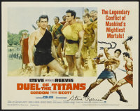 """Duel of the Titans (Paramount, 1963). Autographed Lobby Card (11"""" X 14""""). Action"""