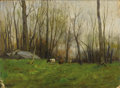 Fine Art - Painting, American:Modern  (1900 1949)  , CHARLES PAUL GRUPPE (American 1860-1940). Pasture in the Bronx,New York, 1918. Oil on canvas board. 11-1/2 x 16 inc...