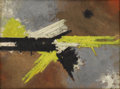 Fine Art - Painting, American:Contemporary   (1950 to present)  , CHARLES GREEN SHAW (American 1892-1974). Shape of Tension,1960. Oil on board. 9 x 12 inches (22.9 x 30.5 cm). Signed at...